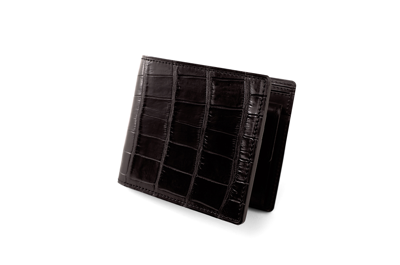 93a23b2cea8e SMALL CROCO(スモールクロコ) 小銭入れ付き二つ折り財布|最高級のメンズ ...