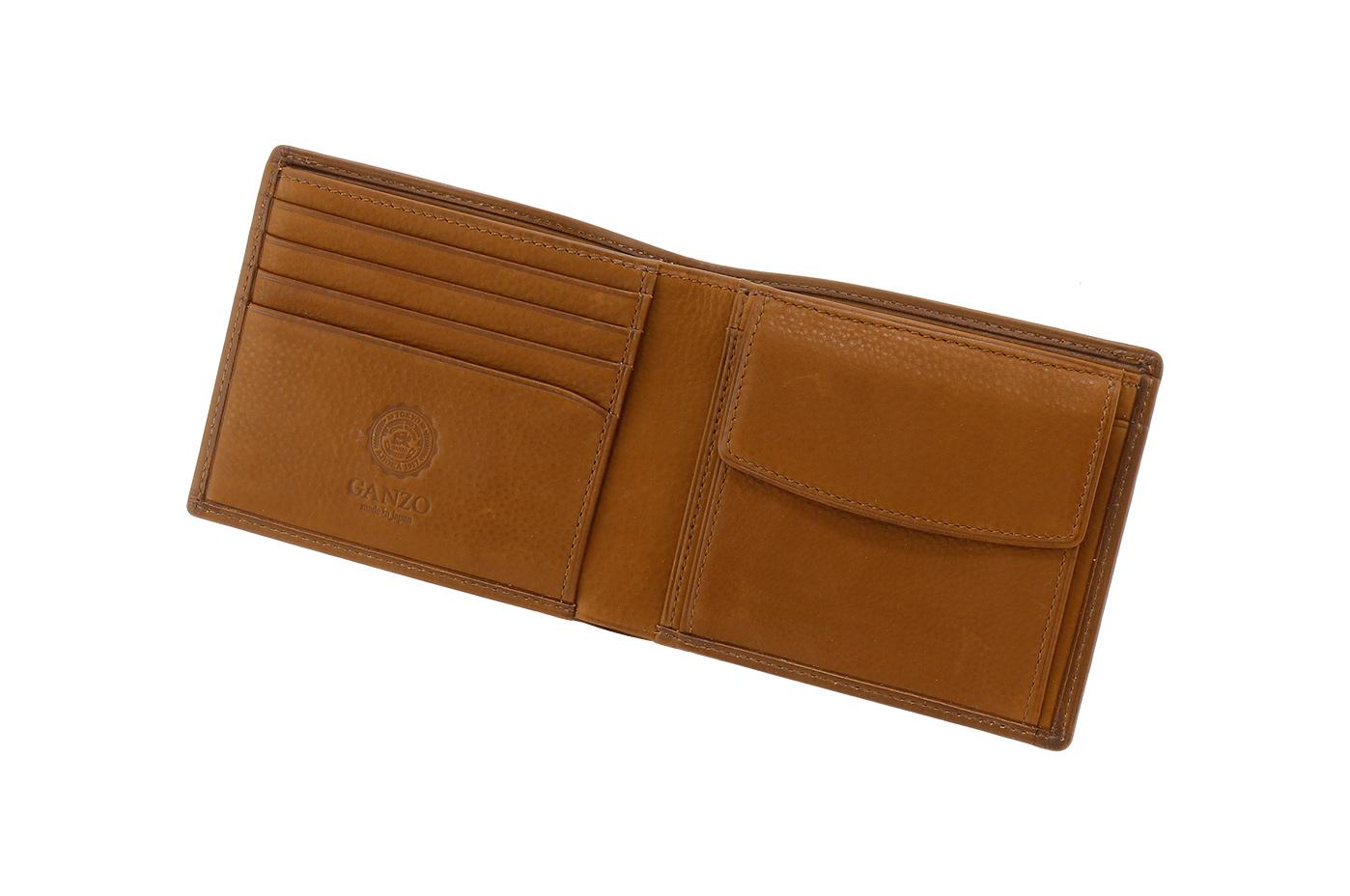 GANZO BABY CALF小銭入れ付き二つ折り財布
